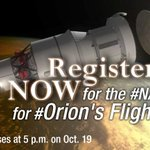 RT @NASAKennedy: Have you applied for the #NASASocial for @NASA_Orion's First Flight? Don't wait, apply TODAY! http://t.co/QY80xyNBni http:…