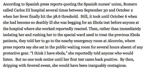 "This is the way the world ends.... RT @ericuman: ""I think I have Ebola,"" she told everyone RT @sarahkliff: http://t.co/fMtheMPiqo"