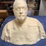 Kurtz using this mold of me to build my #YogaHosers prosthetics. I'm gonna be a movie monster! (Insert Insult Here.)