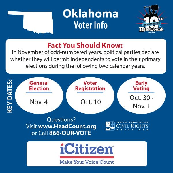 Oklahoma, get registered now so you can get your #VOTE on Nov. 4th: http://t.co/cR527OsWBG http://t.co/gqqAya9nsq