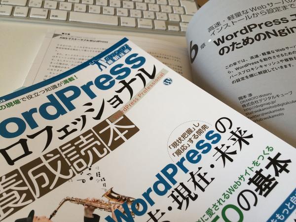WordPressプロフェッショナル養成読本って本に24pだけですが、「WordPressユーザのためのNginx入門」って記事を書きましたー。 #wctokyo でも買えるらしいのでぜひー http://t.co/h9UzRpJjX5