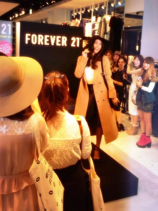 FOREVER 21 NAGOYA STORE OPEN NOW!!ファッションショーとイベント楽しかった!  皆可愛かった!!❤️