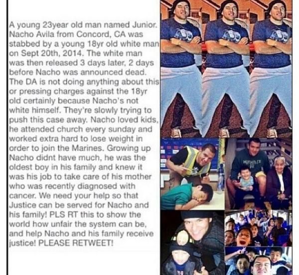 ALL UP ON YOUR FEED #JusticeForNacho