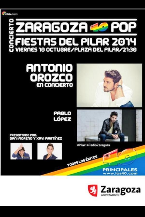 Mañana 10 d Octubre ntro @antoniorozco esta dispuesto a dejarselo todo en Zaragoza de la mano d @Los40_Spain.Vamossss http://t.co/DOy7G1KIvZ