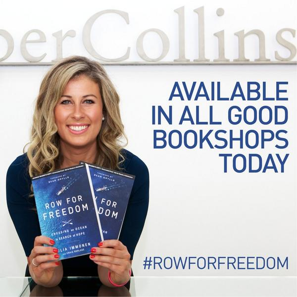 RELEASED TODAY! #rowforfreedom in UK bookshops! WHSmith in airports, stations, Waterstones etc http://t.co/Afy1VoUDxG http://t.co/0PwA6380Il