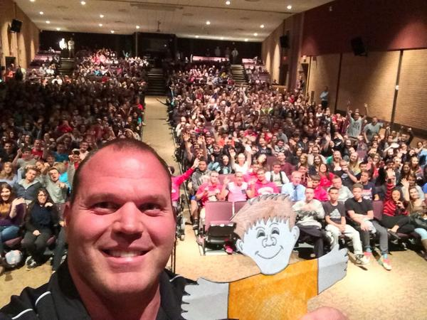 Just finished visiting @WolcottSchools #WolcottHighSchool where I had an amazing time speaking to all the students!! http://t.co/altRdehliP