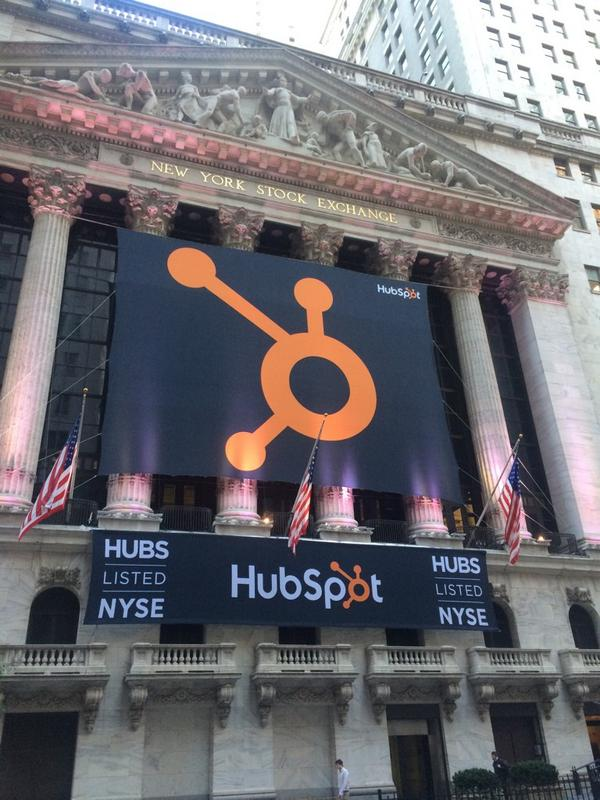 NYSE welcomes HubSpot in a big way this am. http://t.co/uLRK30Cs1x
