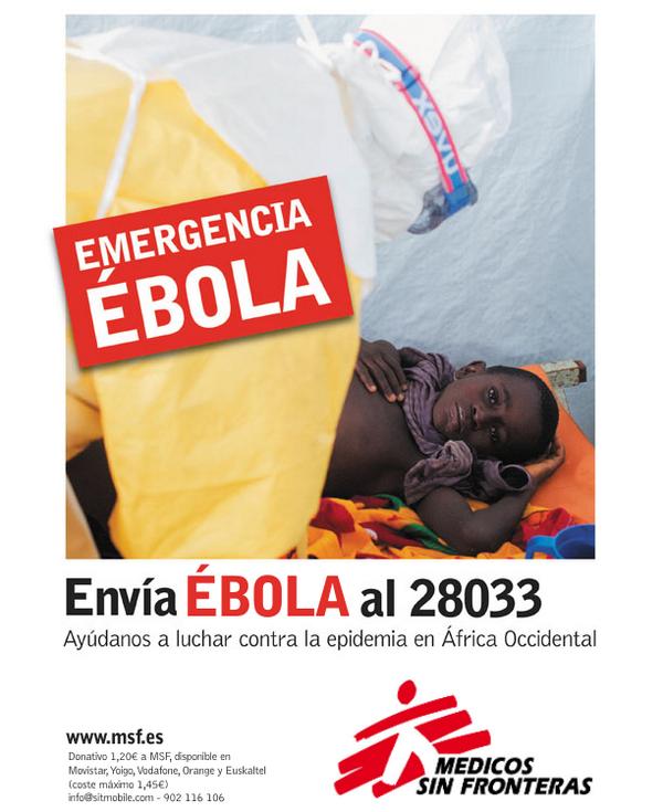 Súmate a la lucha contra el Ébola en África Occidental ahora. Envía un SMS con la palabra EBOLA al 28033. #StopEbola http://t.co/mQ9qP2Mqul