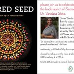 RT @abchome: Join us as we welcome @drvandanashiva to #abchome for the book launch of #SacredSeed 10/22 https://t.co/ItLp7IuJpL