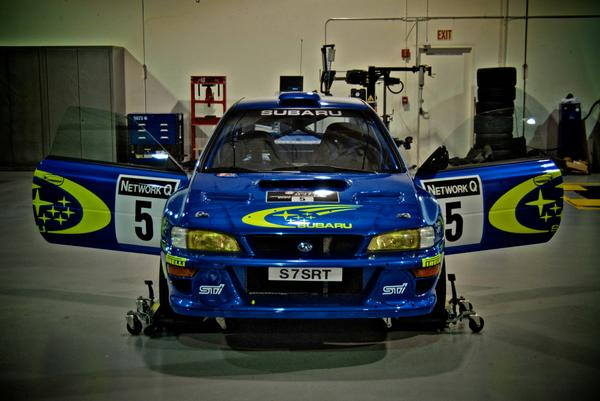 for #tbt here is the #Prodrive built Burns car before we moved it into our lobby. #wrc #dirtfish #legend #STI #SUBARU http://t.co/Z03RTS6mqI