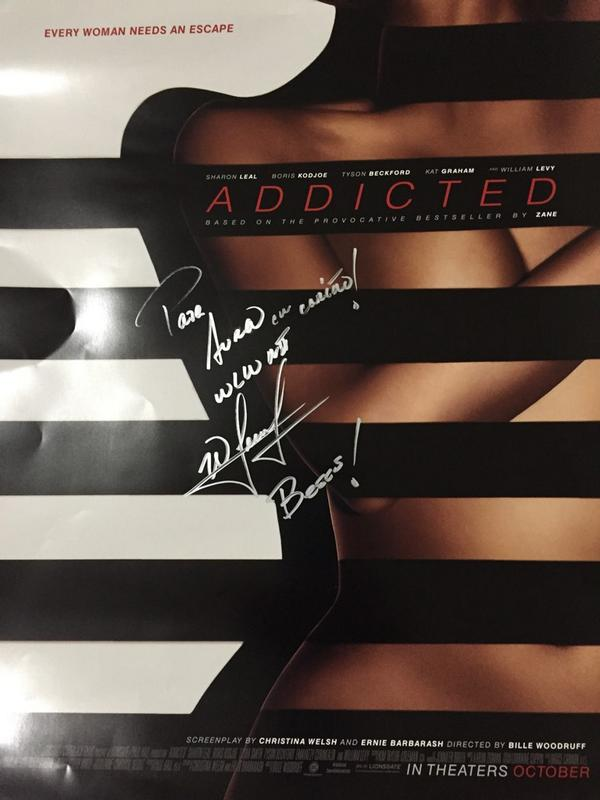 My #Addicted posted courtesy of @Latin_Post which @willylevy29 signed. Go watch the movie tomorrow!! It's a must see! http://t.co/aJckmU38gj