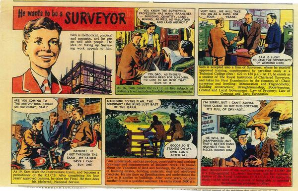 From the archives. This 1950s comic tells the story of a boy who realises his dream of becoming a #surveyor. http://t.co/caKshYrvgI