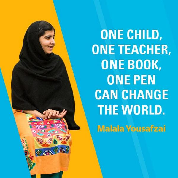Congratulations to Malala Yousafzai, the youngest person ever to receive the #NobelPeacePrize: http://t.co/EJiUxgLvTB http://t.co/gvMDNjul6I