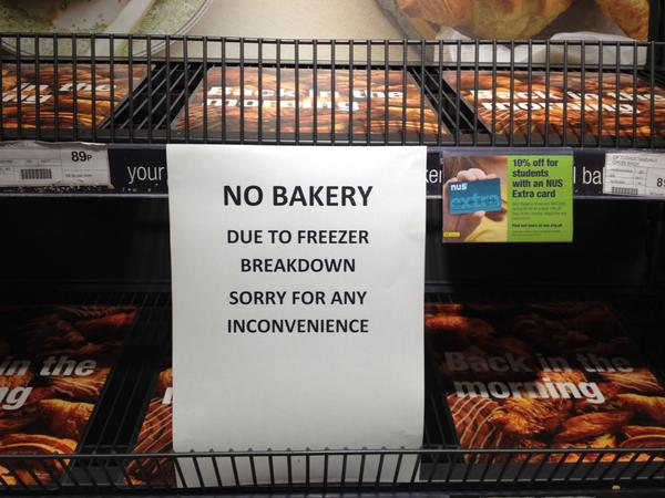 "A reminder of what ""in-store"" supermarket bakery really means. Best go to @HartsBakery (other local bakers available) http://t.co/6IVzgAe7XJ"