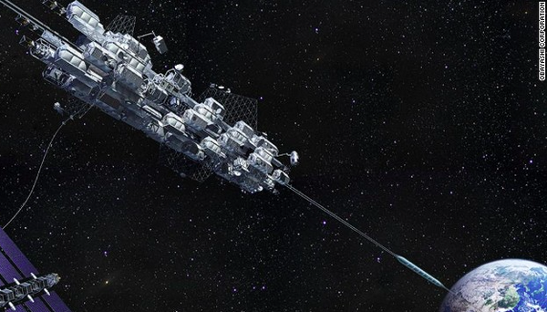 Going up! Cosmic elevator will ride into space on a diamond necklace: http://t.co/1vRnNZxG7T http://t.co/YxfzpaqvaK