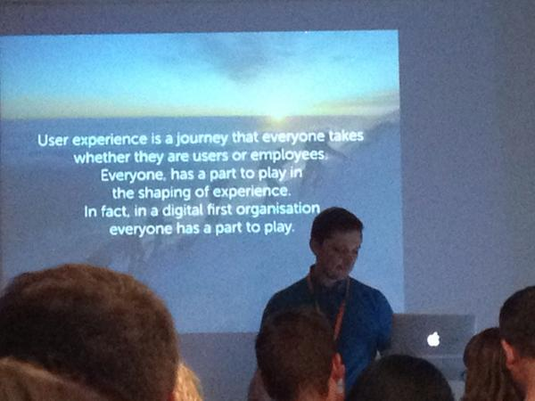 User experience is... #InteractLDN @simon_norris http://t.co/2ywPAGAiIF