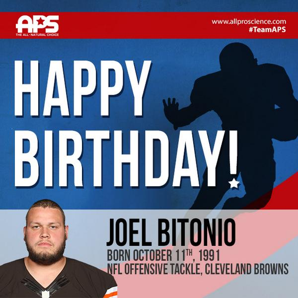 This #specialday belongs to #TeamAPS athlete @JoelBitonio! You can catch him #winning w/@Browns! #HappyBirthday champ http://t.co/rEBKQp4jNl