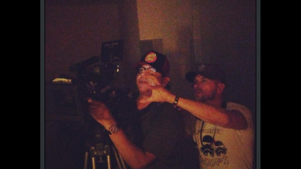 Our director @LukeGoss in action!! Such a detailed and passionate director blessed to be working with you.#YOURMOVE http://t.co/e3WrZHHTGj