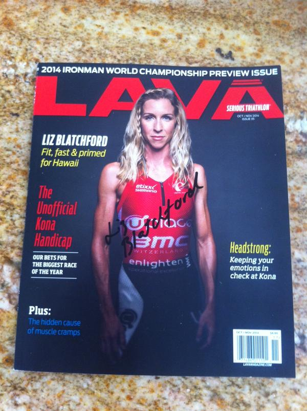 Today's giveaway: LAVA Pre-Kona issue signed by @Liz_Blatchford. Last RT wins. Ready, go! http://t.co/cIRHmTyPmi
