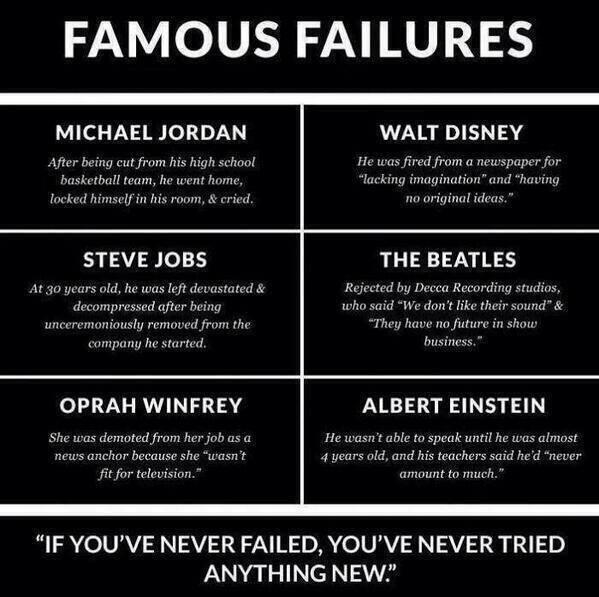 If you've never failed, you've never tried anything new: http://t.co/lgjSkXvuKp