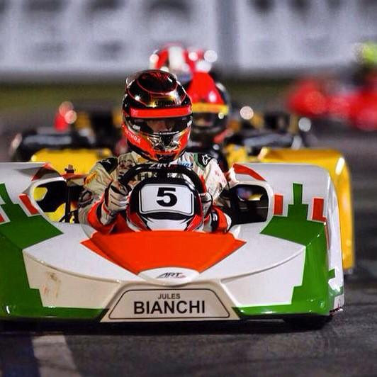Jules Bianchi and I racing last year in Brazil.Great person and great driver. Hoping and praying for a fast recovery. http://t.co/vIQ6P3nzzN