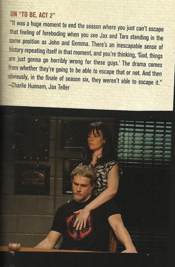 Scanned this from the official series guide in case any of you haven't seen it. #SOAFX #CharlieHunnam #MaggieSiff http://t.co/yx8I0l6nld