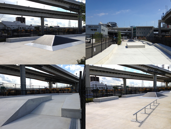 [INFO] 10月15日に川崎に大師河原公園スケートボードパークがオープン。スケートショップ、goldfishの尽力により実現したこちらのパークは魅力的なストリートセクションがポイント。http://t.co/IvUh4AGCKV http://t.co/7xUf0SVezX