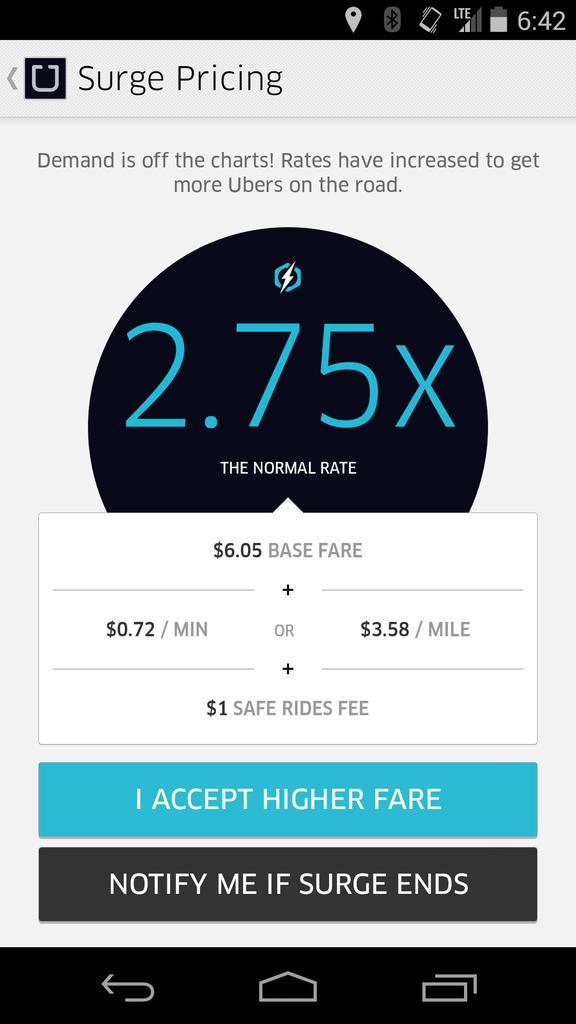 People will never ditch their cars and switch to @Uber if they can't predict what they're going to have to pay. http://t.co/5CRJNcQps7