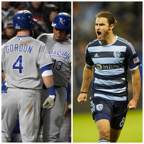 #SportingKC clinches playoff berth. @Royals take #ALCS series lead.  Good night, Kansas City! http://t.co/enfhUGF5fo