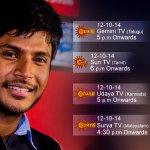RT @Bhuvan46: Watch #SIIMA awards tomorrow on GeminiTV (5pm) , SunTV ( 6pm),UdayaTV(5pm) SuryaTV (4:30 pm) @sundeepkishan http://t.co/1ZRHr…