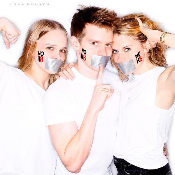 This feels like an appropriate pic to celebrate National Coming Out Day. #NoH8 http://t.co/i7qB2y7z9K