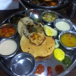 Treated myself to a gujju thali for dinner !! Can barely move !! ;)