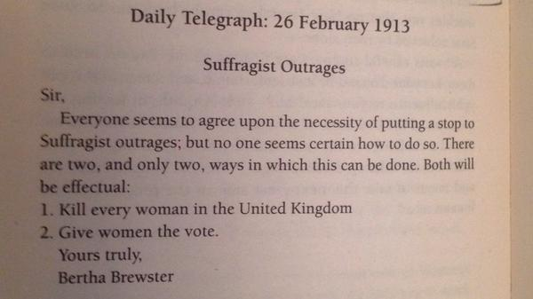 I love Telegraph letters page - who knew it was also brilliant back in 1913? http://t.co/gB1f9QR2fr
