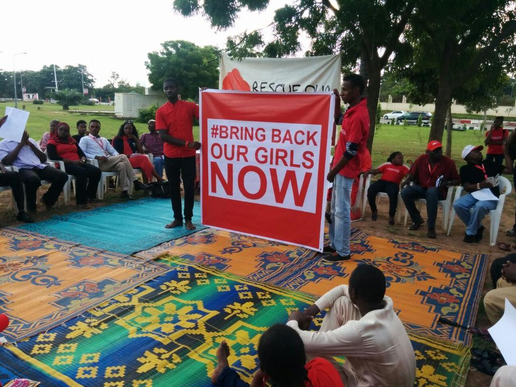 Ay today's special sit out in Abuja marking day 180 since the abduction of the #ChibokGirls #BringBackOurGirls http://t.co/oSLpcK1VjX