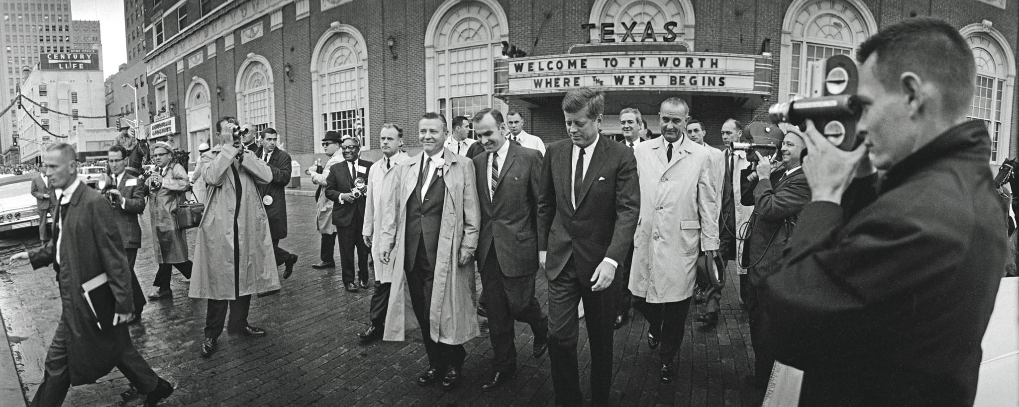 President Kennedy leaves the Hotel Texas in Fort Worth, the day he was assassinated, 1963 http://t.co/NX8acMD9ub