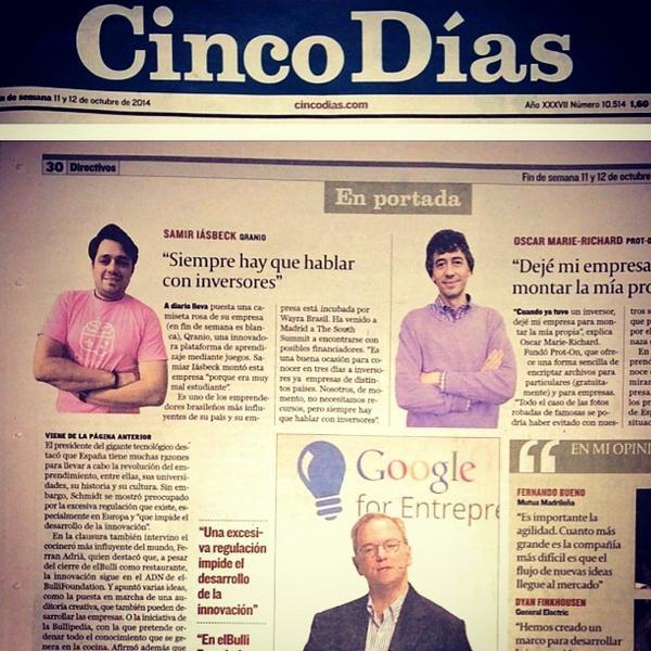 #QranioNaMidia na EspanhaOntem saímos em destaque no The Wall Street Journal e hoje fo... http://t.co/4E6dh3L93U http://t.co/T96HVISxK6