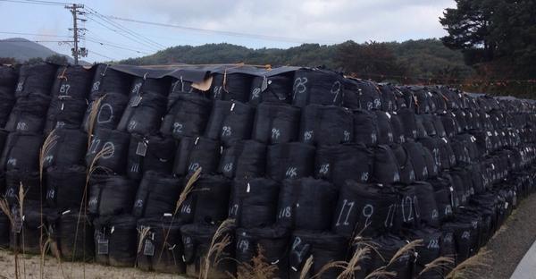 飯舘村を走ると右も左もあちこちに、除染された廃棄物、放射性物質を含む土などを入れた真っ黒な袋が野積みされている。除染したばかで軒先に放っておかれている家も。あんなに美しい村だったはずなのに。。これが事故のから3年半の現実。 http://t.co/h9tEXE5uw1