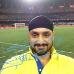 RT @IndSuperLeague: @IndSuperLeague: Spotted at #HeroISL @harbhajan_singh with his best wishes for Indian Super League. #LetsFootball