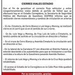 Si acudiste al partido de @Club_Queretaro vs @CF_America toma en cuenta la siguiente información vial. #Querétaro http://t.co/ECWUPDGTuX