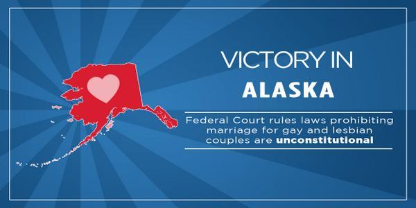 BREAKING: A federal judge has struck down Alaska's marriage ban: http://t.co/I2QckRFTkk  #marriagemomentum http://t.co/XGjvsgmIuj