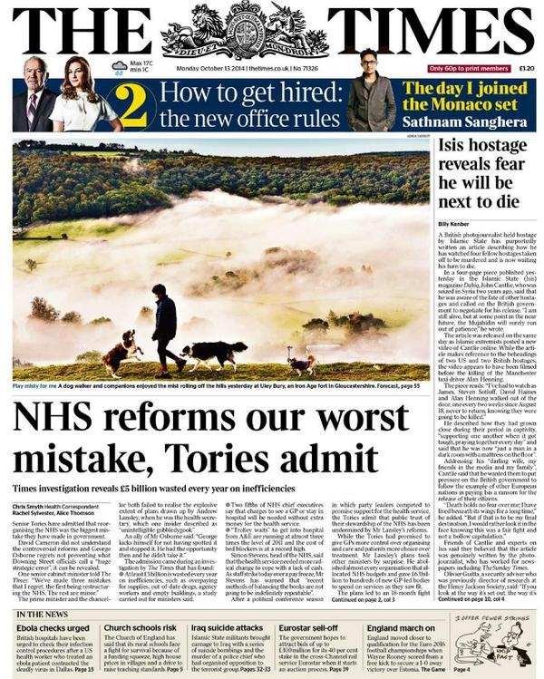 "Gentlemen amateurs admit professionals were right to fight their NHS ""reforms"". Great. Now? http://t.co/B5NZINVlF3 http://t.co/OSaDRrao3S"