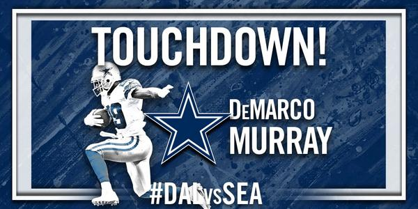 """@dallascowboys: TOUCHDOWN @DeMarcoMurray !!!! #DALvsSEA http://t.co/Zywtm2Oqom"""