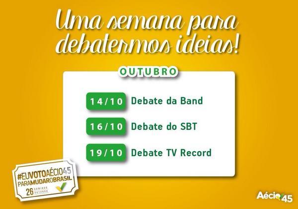 Vamos acompanhar os debates! Atenção, #twitterinhos!