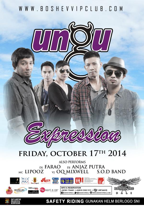 THIS FRIDAY! @UNGU_Tweet Exclusive Live - IDR 125.000 - RSV Contact @AGUNG_AGAA / @Erwinfaygo 081933023111 http://t.co/7e3cevJv97