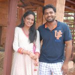Kannada stars @HariPrriya @rakshitshetty on sets of #Ricky directed by @shetty_rishab http://t.co/rUgmy5DeAq