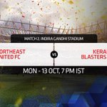 RT @IndSuperLeague: Match 2 of the #HeroISL will see the youth of @NEUtdFC take on the experience of @KBFCOfficial!http://t.co/PeYGWrvjIU h…