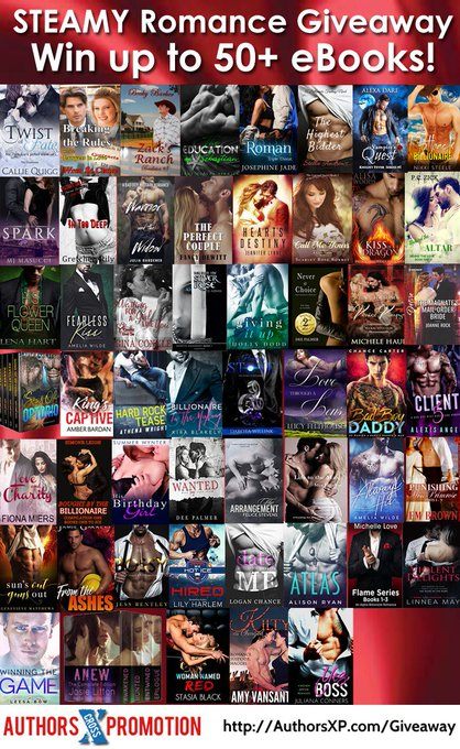 Win Up To 50+ Steamy Romance eBooks! #win #giveaway #romance