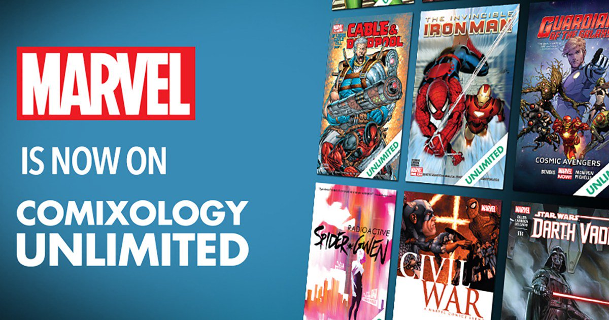Marvel officially joins @comiXology Unlimited subscription service.