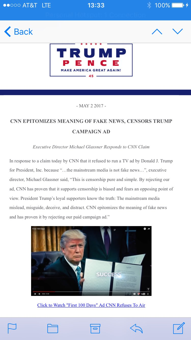 Trump camp responds to CNN https://t.co/JHrRl7Byo5