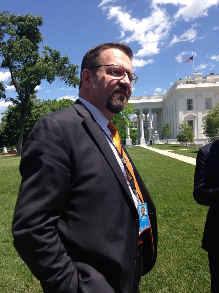 Asked about his status with the White House, Seb Gorka says: 'What does it look like?' Translated: he's still here. https://t.co/3qrxEpH6wm